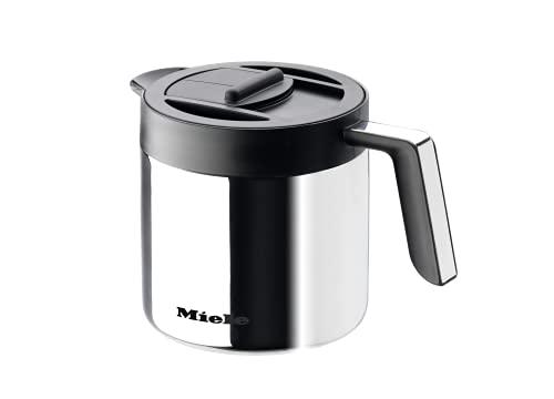 Miele Original Zubehör Kaffeekanne/Isolierkanne CJ Jug für Stand und Einbau Kaffeevollautomaten / 1 Liter Fassungsvermögen/hochwertiger polierter Edelstahl