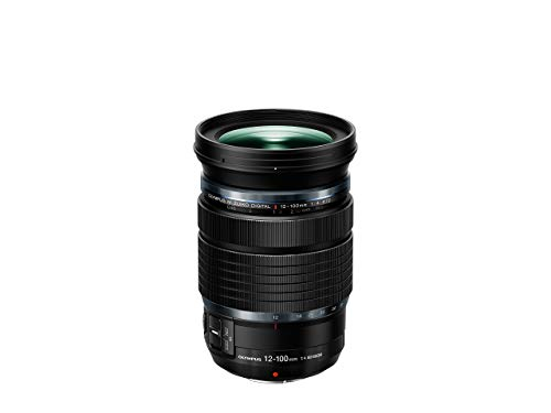 Olympus M. Zuiko Digital ED 12-100mm F4 IS Pro Objektiv, geeignet für alle MFT-Kameras (Olympus OM-D & PEN Modelle, Panasonic G-Serie), schwarz