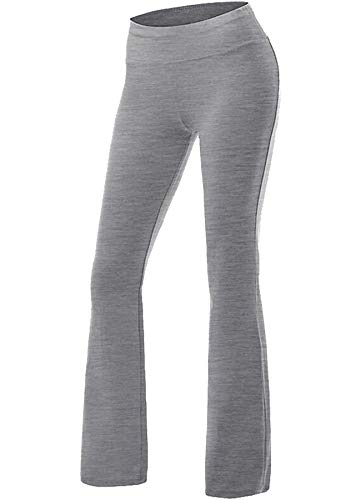CROSS1946 Damen Yoga Lange Stretch Lagenlook Hose- Gr. L, Grau
