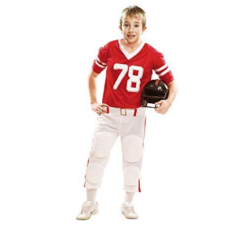 Partychimp My Other Me - Rugby-Kostüm für Kinder, rot 10-12 años rot