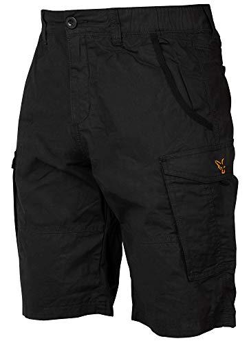 Fox Collection Combat Shorts Black / Orange - kurze Angelhose, Größe:S