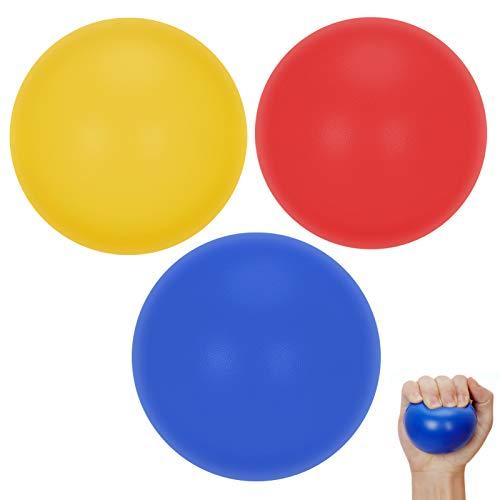 FYY Antistressbälle für Kinder/Jugendliche/Erwachsene(3 Stück) Squeeze Toy mit hoher Elastizität helfen Stress abzubauen,Angst zu lindern,zumTrainieren von Fingern mit Arthritis,Chirurgische Erholung