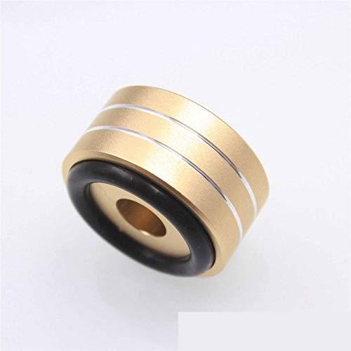 WNJ-TOOL, 4 stücke Lautsprecher Stehen für röhrenverstärker cd Player 40x20mm Desktop Lautsprecher Spikes Audio stoßdämpfer volle Aluminium füße Nagel CNC (Größe : Golden)