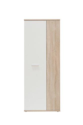 FORTE Net106 Mehrzweckschrank, Holz, sonoma eiche + weiß, 68.90 x 34.79 x 179.1 cm