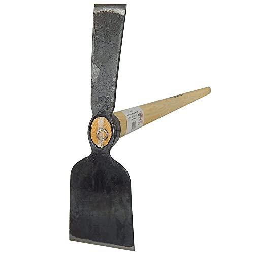 SHW-FIRE 59216 Gartenhacke Hacke Breitblatt und schmalen Blatt mit Stiel Holzstiel Eschenholz 135cm