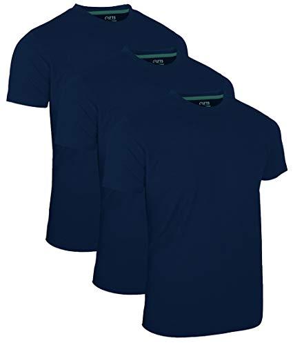FULL TIME SPORTS 3 Packs Long & Tall Tee Geschnittenes Shirt für Männer (Navy, XXXXX-Large)