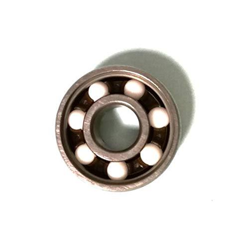 Kugellager Keramikkugel 608Rs Inline-Roller-Skate-Radlager Abec 11 Anti-Rost-Skateboard-Radlager 608 RS 8x22x7mm-Welle Mini Kugellager (Farbe : Silver, Inner Diameter : 8mm)
