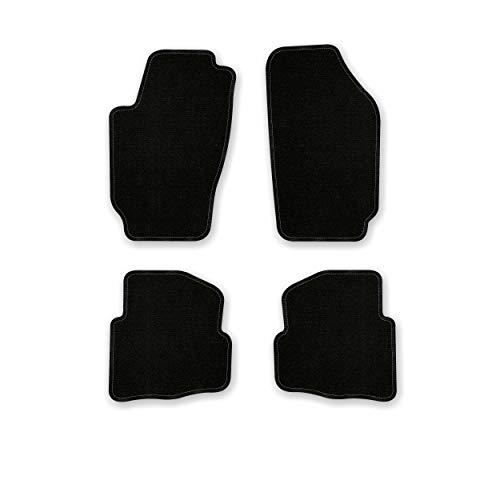 Bär-AfC SK03480 Basic Auto Fußmatten Nadelvlies Schwarz, Rand Kettelung Schwarz, Set 4-teilig, Passgenau für Modell Siehe Details