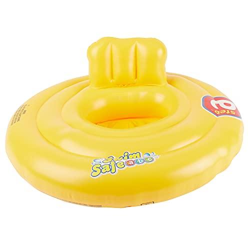Bieco Schwimmring Baby Schwimmhilfe Gelb | Aufblasbar Baby Schwimmring ab 3 Monate | Baby-schwimmreifen | Pool Aufblasartikel | Baby Float | Babyschwimmreifen | Babyschwimmring | Kinder | Kleinkind
