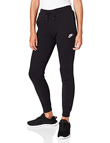 Nike Damen W Nsw Essntl Pant Reg Flc Sport Trousers, Black/(White), S
