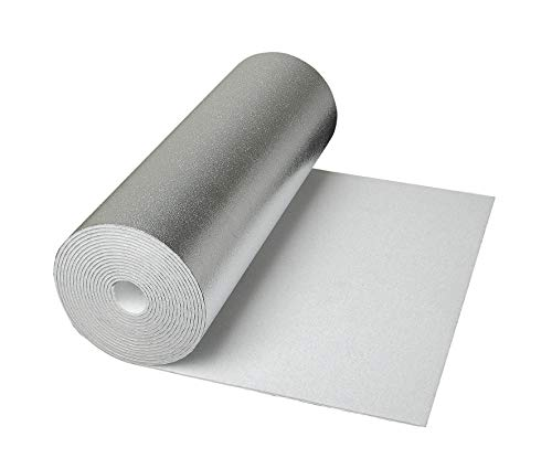 CLIMAPOR weiße Dämmtapete alukaschiert, 5 x 0,5 m x ~ 4 mm, 2 Rollen (= 5 qm), EPS - Innenraum-Dämmung - Isoliertapete