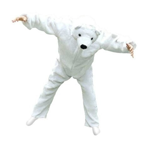 Eisbär-Kostüm, F24/00 Gr. XL, für hoch gewachsene Männer und Frauen, Eisbären-Faschingskostüm, für Fasching Karneval Fasnacht, Karnevals-Kostüme für Männer und Frauen, Faschings-Kostüme, Geburtstags-Geschenk, Weihnachts-Geschenk