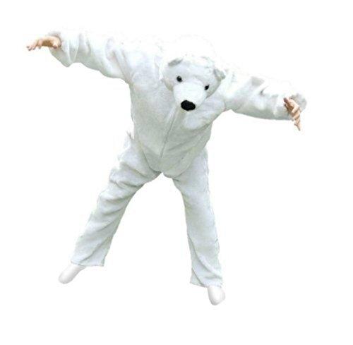 Seruna Eisbär-en Kostüm-e F24 Gr. XL, für hoch gewachsene Männer und Frauen, Eisbären-Faschingskostüm, Fasnachts- Karnevals- Männer und Frauen, Faschings- Geburtstag-s Weihnachts- Geschenk-e