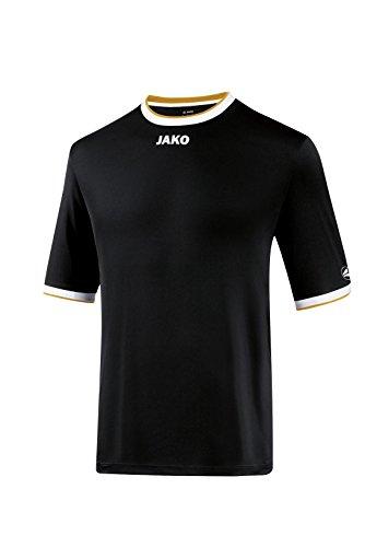 JAKO Herren Fußballtrikots KA Trikot United, Schwarz/Weiß/Gold, S