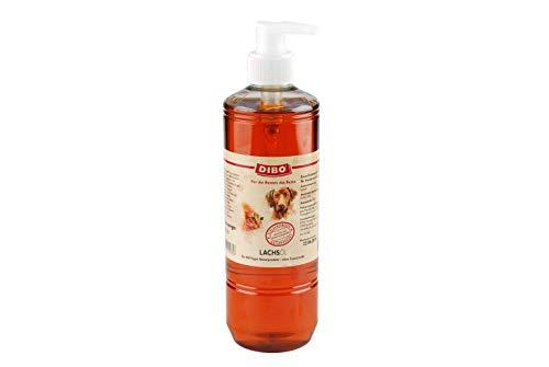Lachsöl mit Pumpe, 500ml, Nahrungsergänzung als gesunde, natürliche Ernährung für Hunde und Katzen von DIBO, Hundefutter, BARF, B.A.R.F.