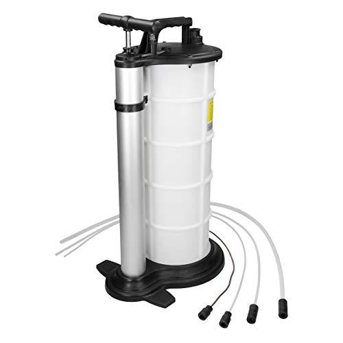 ECD Germany Ölabsaugpumpe 9L | mit 3 Schläuchen | Absaugpumpe Flüssigkeitsabsaugpumpe Ölablassgerät Ölauffanggerät Öl Bremsenentlüftungsgerät Bremsenentlüfter Handpumpe Umfüllpumpe