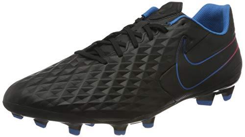 Nike Unisex Tiempo Legend 8 Academy MG Football Shoe, Black/Black-Siren Red-Light Photo Blue-Cyber, 47 EU