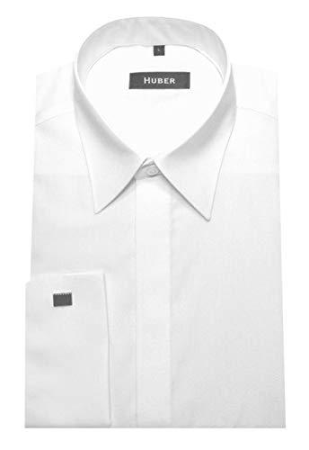 HUBER Manschettenhemd Weiss XL