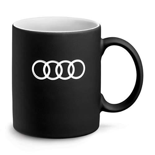 Audi 3291900500 Porzellan Becher, 350ml Kapazität, Schwarz