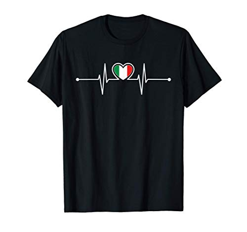 Italien Herzschlag Italien Geschenke Italienischer Stolz T-Shirt