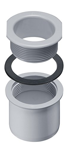 INEFA Schraubstutzen Rinne zu Fallrohr, kastenförmig Grau DN 50 / NW 68 - Kunststoff, Dachrinne, Rinne zu Fallrohr, Kastenrinne, Regenrinne - eckig - kastenförmig
