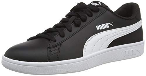 PUMA Unisex Smash V2 L Sneaker, Black White, 44.5 EU
