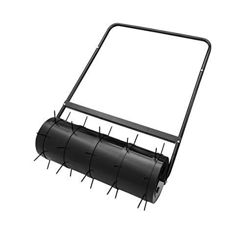 ADGO Gartenwalze Rasenwalze mit Spikes 80 x 28 cm Hoch für Rasen Stahltrommel 49L Garden Yard Kit Wasser Oder Sand Gefüllt Drücken Ziehen, (Versand in Zwei Paketen)