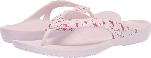 Crocs Damen Kadee II Graphic Flip Flipflop, Flamingo/Barely Pink, 40 EU