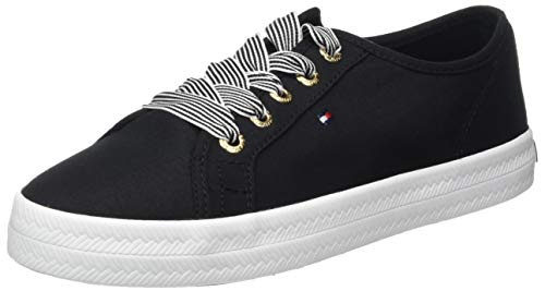 Tommy Hilfiger Damen Essential Nautical Sneaker, Schwarz (Black Bds), 37