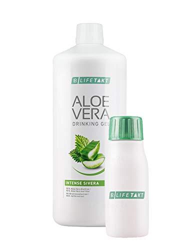 LR Aloe Vera Drinking Gel Sivera 1000 ml plus Aloe Vera Rotationsflasche (unbefüllt) für unterwegs, 90 ml