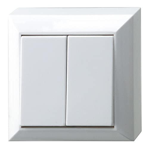 REV Ritter 0511462777 PlanoLuxe AP Serien-Schalter, weiß
