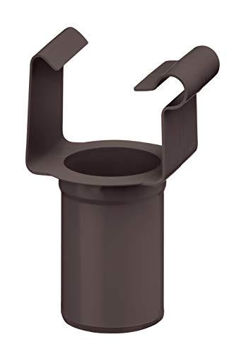 INEFA Ablaufstutzen, kastenförmig Dunkelbraun DN 50 / NW 68 - aus Kunststoff, Einhängestutzen, Rinne, Fallrohr, Dachrinne, Regenrohr, Regenfallrohr, Kunststoffrinne
