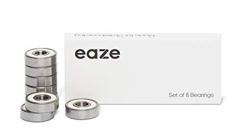 eaze Skateboard Kugellager 608 (8er-Set) ABEC-7 für Longboard, Inliner, Scooter etc. 8x22x7