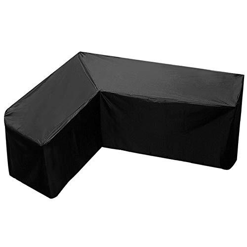 L-Form Abdeckung für Gartenmöbel,Wasserdicht Sofa Abdeckung Schutz vor Staub und verlängert die Lebensdauer von Möbeln, Schutzhülle Gartenmöbel (215x215x87cm)