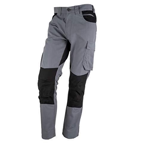 FORSBERG Braxa Arbeitshose mit elastischen Stretchzonen, robuste Bundhose mit Cordura® Stretch, Farbe:grau, Größe:54