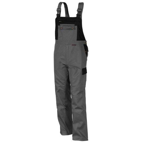 Qualitex Image-Latzhose Mischgewebe 65% Baumwolle 35% Polyester 3105/5-8 54,Grau-Schwarz