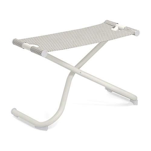 Snooze Garten Fußhocker, eisweiß weiß Sitzfläche EMU-Tex eisweiß LxBxH 72x32x43cm Gestell Stahl weiß klappbar
