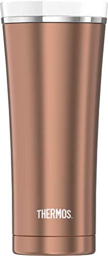THERMOS Thermobecher Premium, Kaffeebecher to go Edelstahl rosé 470ml, Isolierbecher spülmaschinenfest, dicht, 4004.284.047, Coffee to Go 5 Stunden heiß, 9 Stunden kalt, BPA-Free
