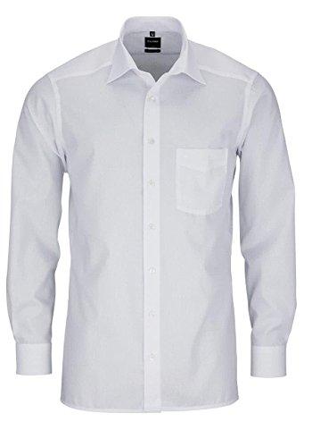 Olymp Herren Langarmhemd - Luxor Modern Fit, Gr.44, Farbe Weiß