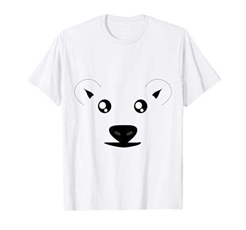 Lustiges Eisbär Kostüm Fasching Karneval Polarbär Geschenk T-Shirt