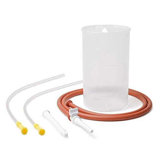 Dr. Wunder® Einlaufgerät 1-Liter inkl. 2x Einlaufhilfe (40cm) | hochwertiges Irrigator Komplett-Set |inkl. detaillierter Anleitung | BPA-frei