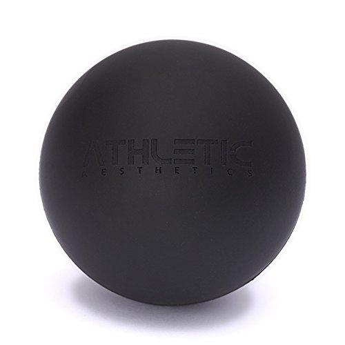ATHLETIC AESTHETICS Massage-Ball [6cm Durchmesser] - Als Lacrosse-Ball und Faszien-Ball zur Selbstmassage und zur Triggerpunkttherapie (genaue Behandlung von Verspannungen) geeignet (Schwarz)