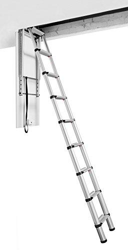 Telesteps 60927-101 Attic Telescopic Ladder, Loft Maxi, Silber