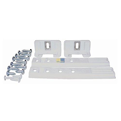 2x Liebherr 9086322 ORIGINAL Scharnier Schlepptür Gleitschiene Schiene Türmontageset universal für Kühlschrank oder Gefrierschrank