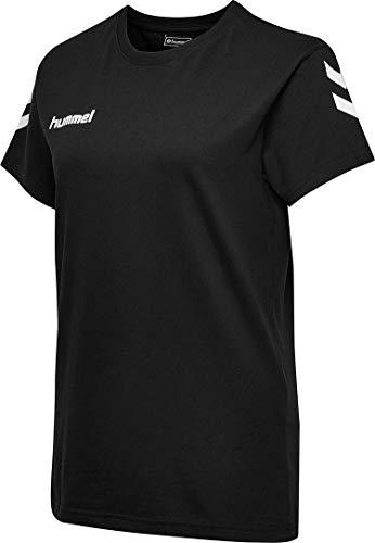Hummel Damen Hmlgo Cotton T shirts, Schwarz, M EU