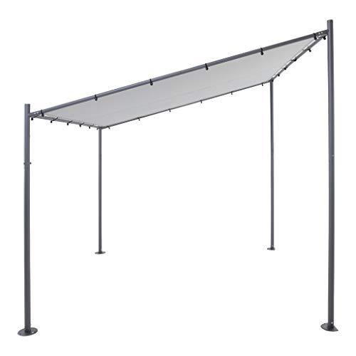 SORARA Milano Wandpavillon   Grau   285 x 300 cm   Sonnensegel   Anstellpavillon