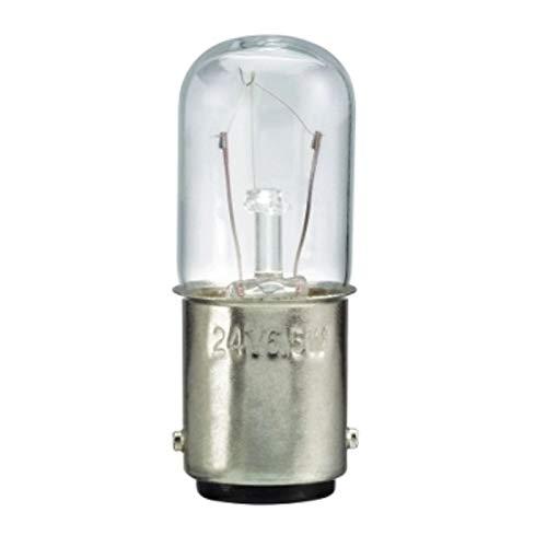 Schneider DL1BLB Glühlampe für Befehls- und Meldegeräte, BA 15d, 10 W, 24 V, Transparent