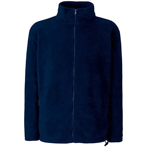 Fruit of the Loom Herren Full Zip Fleece Sweatshirt, Blau (Deep Navy), Medium