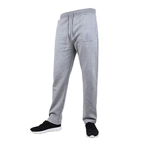 bazix republiq Herren Jogging Hose Regular Fit-Light Grey Milange-XL