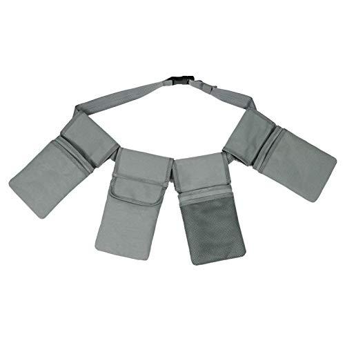 Sunydog Gartenwerkzeuggürtel mit 4 Taschen wasserdichte Leinwand Garten Taillentasche Hängetasche Gartengeräte Taschen Aufbewahrungstasche Organizer